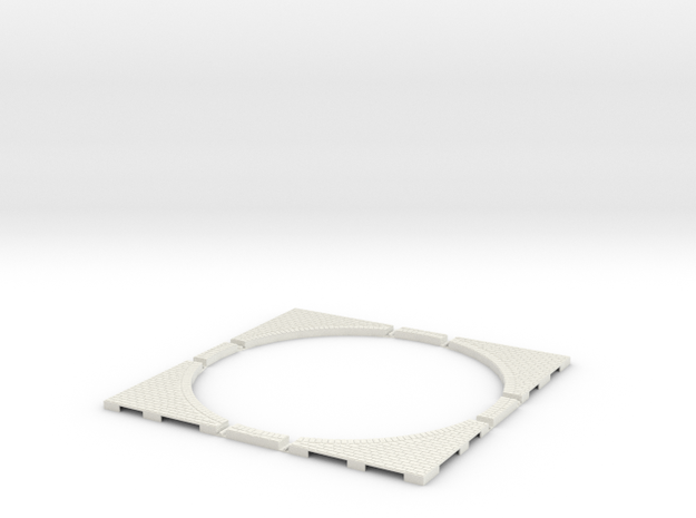 T-45-wagon-turntable-200d-200-corners-large-1a in White Natural Versatile Plastic