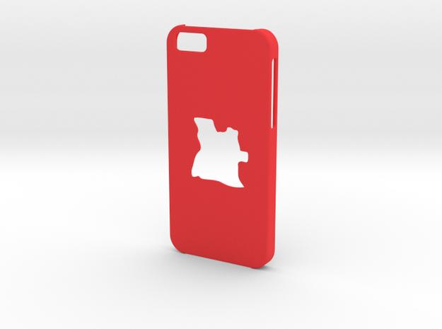 Iphone 6 Case Angola in Red Processed Versatile Plastic