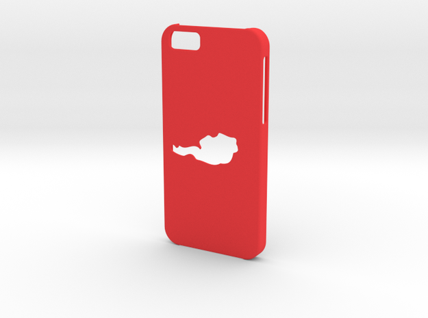 Iphone 6 Austria case in Red Strong & Flexible Polished