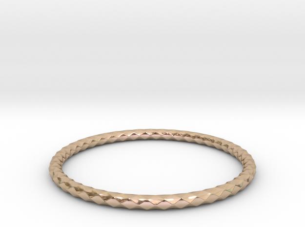 Diamond Pattern Bracelet USA Size Small in 14k Rose Gold Plated