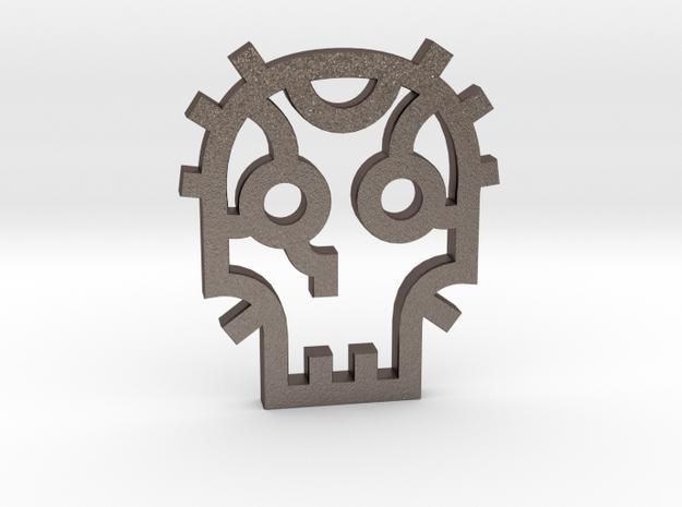 Skull / Cráneo / Calavera in Polished Bronzed Silver Steel