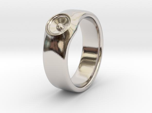 Laura - Ring - US 9 - 19mm inside diameter in Rhodium Plated Brass: 9 / 59