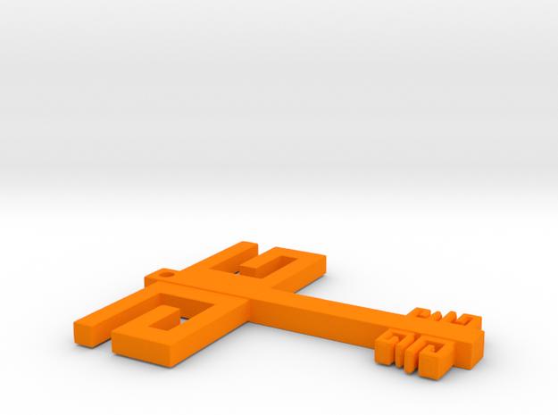 Gwen G Key Flat in Orange Strong & Flexible Polished