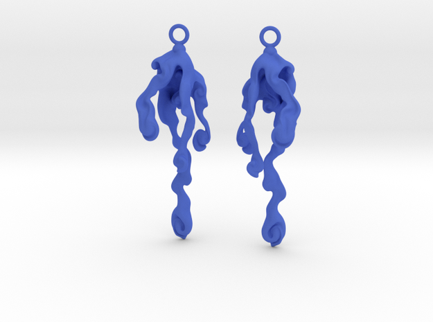 Element Earrings: Water in Blue Strong & Flexible Polished