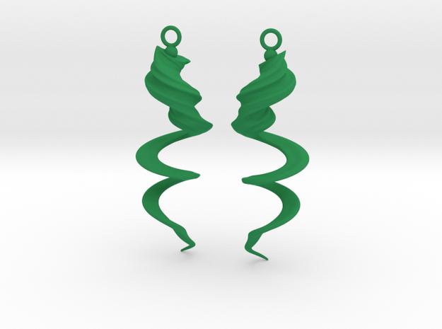 Element Earrings: Wind in Green Processed Versatile Plastic