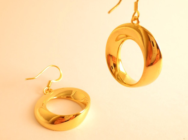 Mobius earrings in 18k Gold Plated Brass