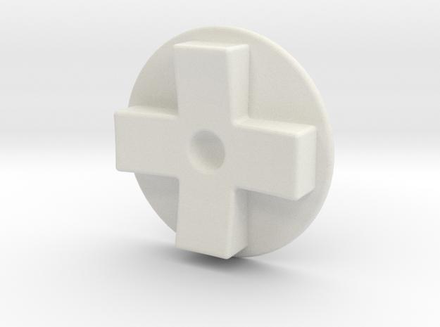 Tinker: D-pad MK2 in White Natural Versatile Plastic