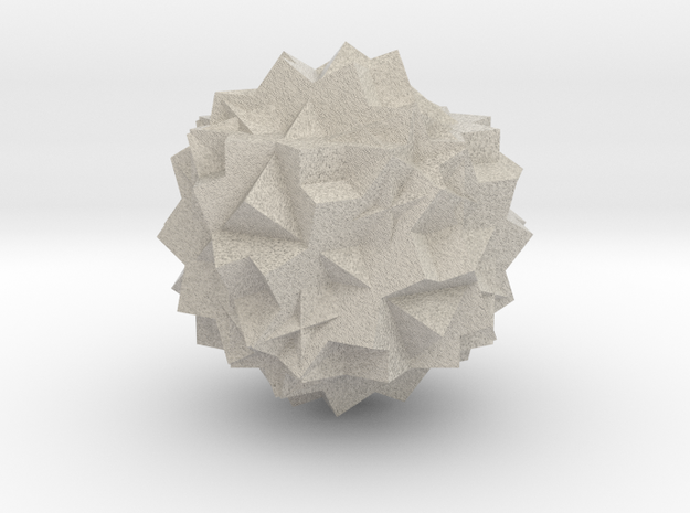 13 Cube Compound, Solid in Natural Sandstone