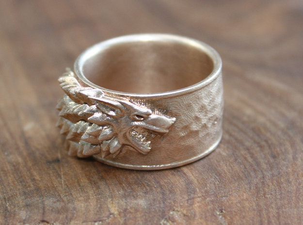 Game of Thrones House of Stark Ring Size 11 1/2 in Natural Bronze