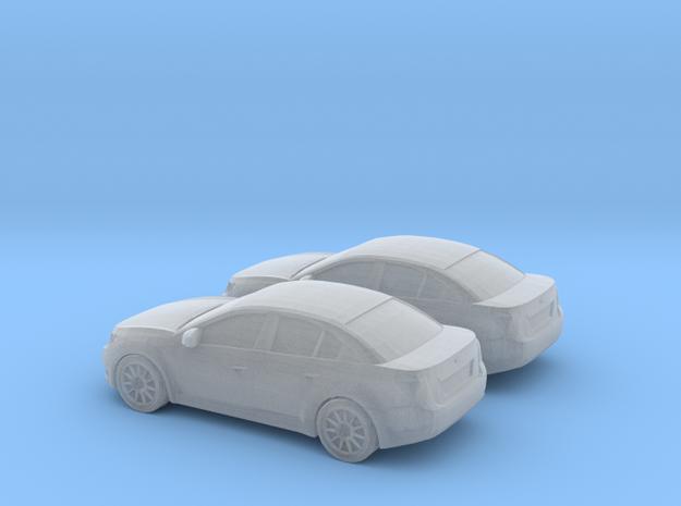 1/148 2X 2010-13 Chevrolet Cruze Sedan in Smooth Fine Detail Plastic