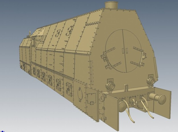 1-72 BR 57 Armored Locomotive For BP-42 3d printed