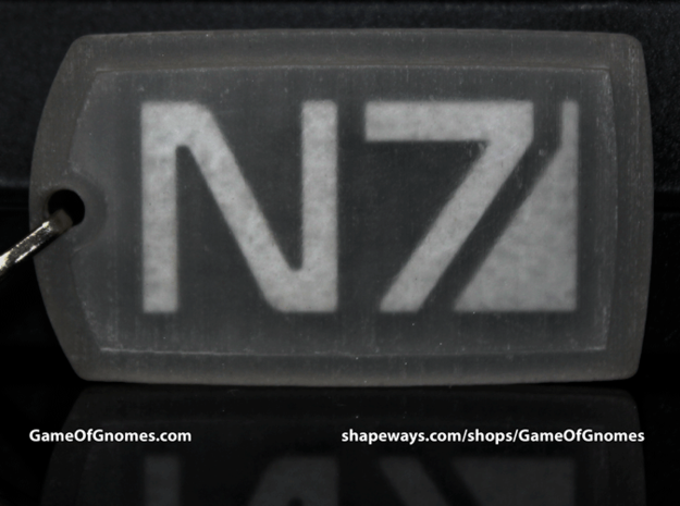N7 Dog tag (Trapped Wax)