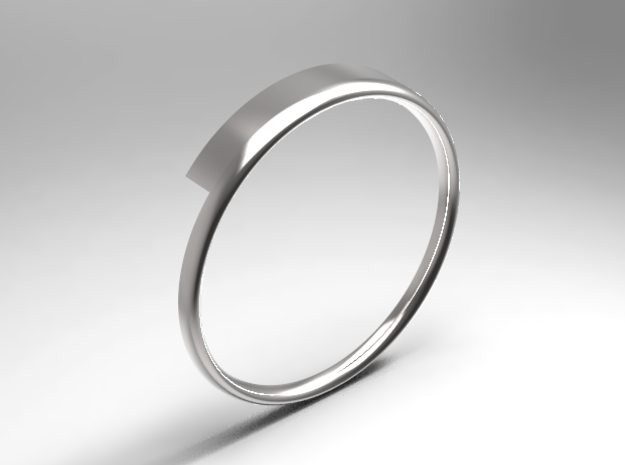 Half Round Ring 16.7mm in 14K Yellow Gold