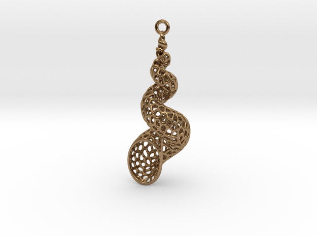 Turitella SeaShell Voronoi Pattern - elongated