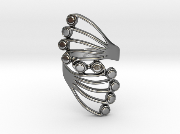 Butterfly Wing Ring Size 9 in Polished Silver