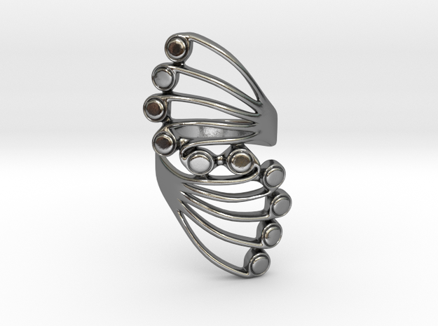 Butterfly Wing Ring Size 6 in Polished Silver