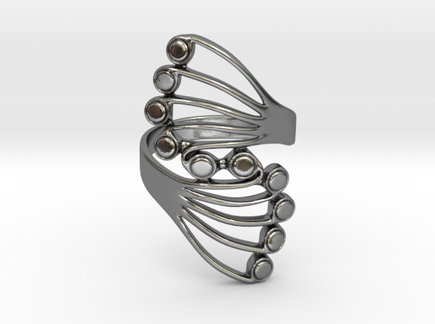 Butterfly Wing Ring Size 12 in Polished Silver