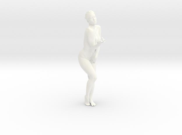 Female Dancer 004 scale in 1/18 in White Processed Versatile Plastic