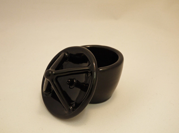 Satellite dish cup, ristretto size 3d printed