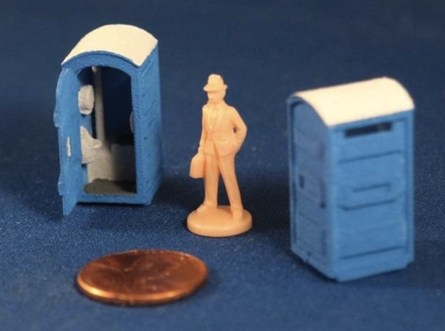 Port-a-Potty (x2) HO Scale