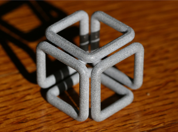 Tube Cube in White Strong & Flexible