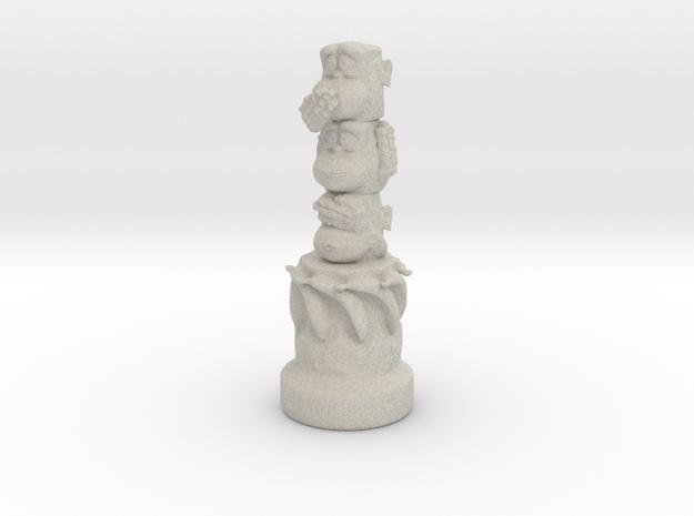 Three Wise Monkeys Totem in Sandstone