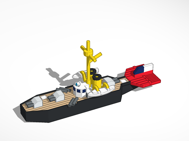 Chile Culpeo Class Frigate in Smoothest Fine Detail Plastic