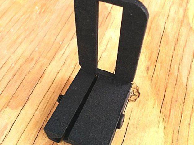 Camera Phone Picatinny Mount in Black Natural Versatile Plastic