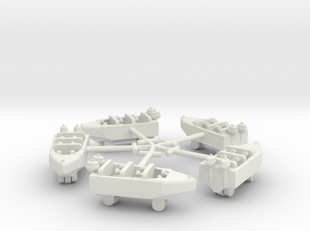 Hamptom Boats with Sweeps in White Natural Versatile Plastic