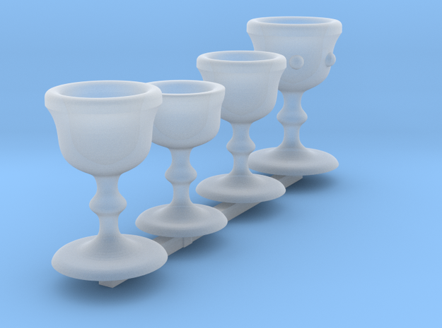 Chalice Set 1 in Smooth Fine Detail Plastic
