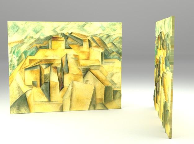 Houses on the hill (Picasso) in Full Color Sandstone