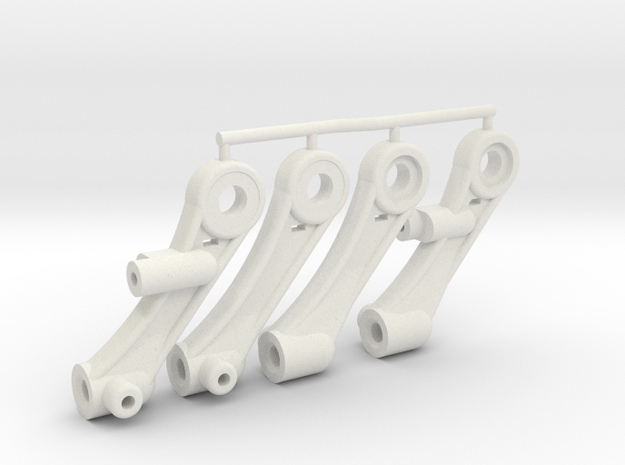 Tamiya SRB buggy vintage style front trailing arms in White Natural Versatile Plastic