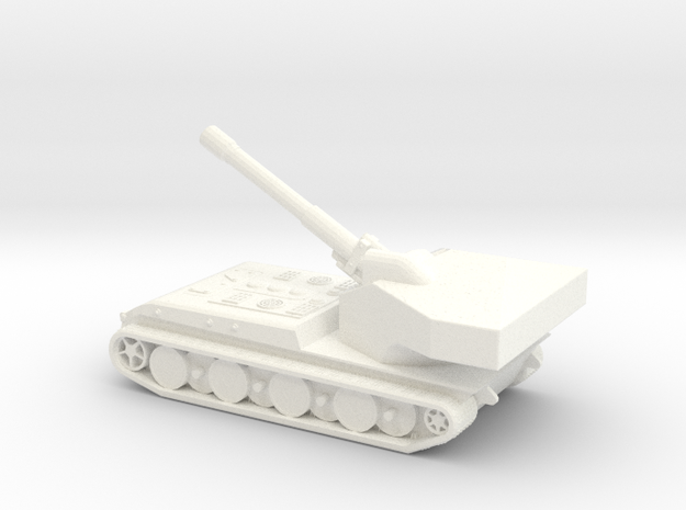 Panzerkampfwagen E-100 Waffentrager (1/285) Qty. 1 in White Processed Versatile Plastic