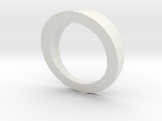 Anel Tríade (piece 1) in White Natural Versatile Plastic