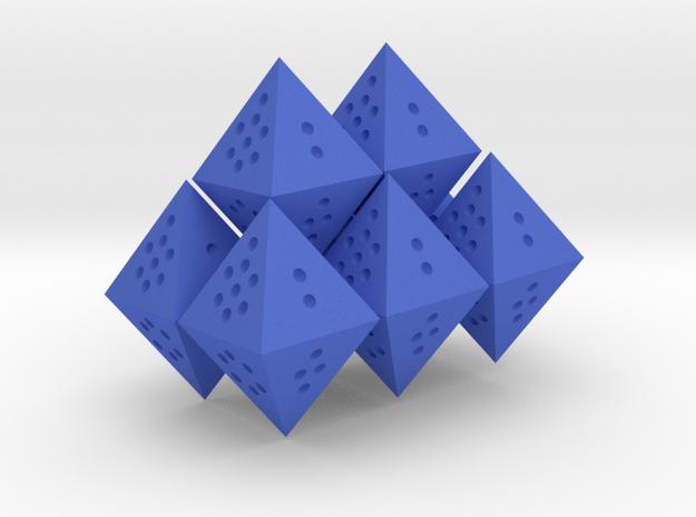Flourite Octet (Full 8d8) in Blue Processed Versatile Plastic
