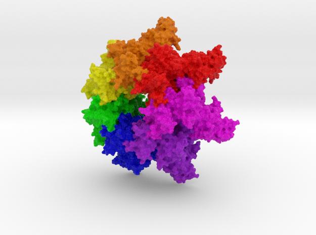 1tzo: Anthrax Toxin Protective Antigen Heptameric  in Full Color Sandstone