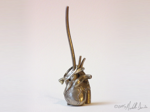Anatomical Heart Ring Holder 3d printed Rings not included.