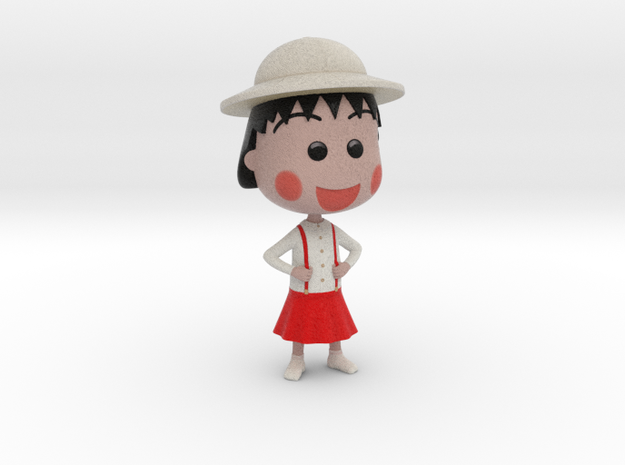Maruko Chan at School in Full Color Sandstone