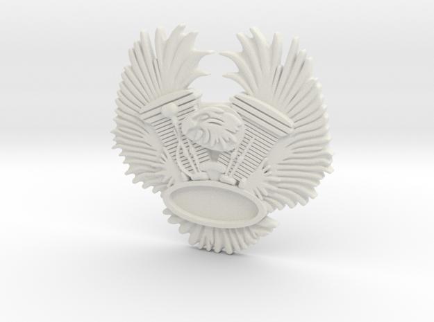 "Immortan Joe ""Eagle"" Badge / Medal - Easyriders in White Natural Versatile Plastic"
