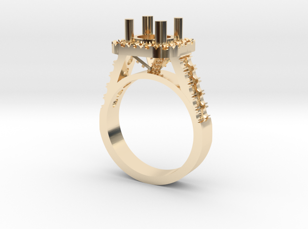 Custom Wedding Ring in 14K Yellow Gold