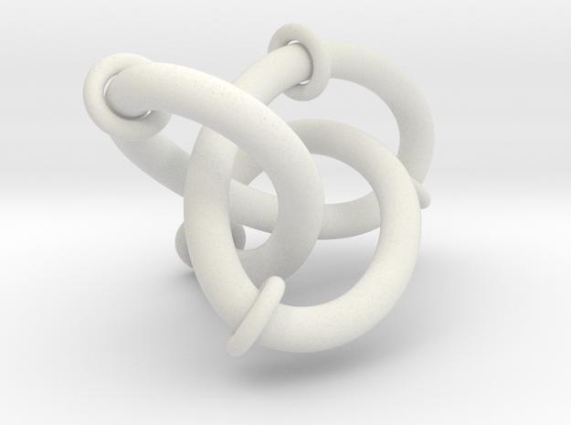 Figure8Knot And Sliding Tori 7 12 2015 in White Natural Versatile Plastic