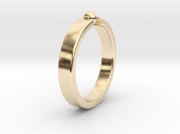 Ø19.22mm - 0.757 inches Ring in 14k Gold Plated Brass