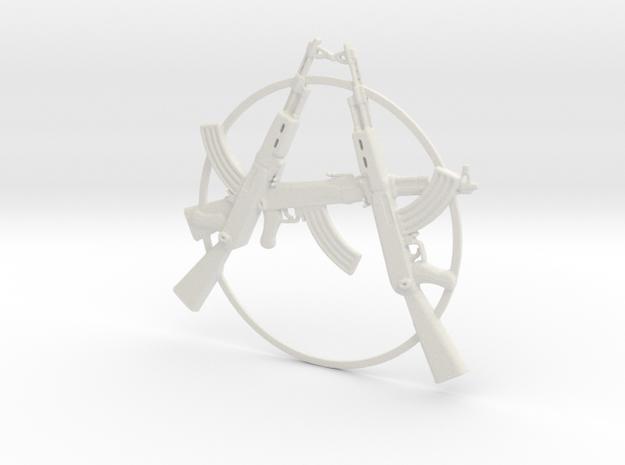 Ak47anarchy01 in White Natural Versatile Plastic