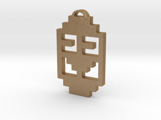 """Journey Pendant- """"Koko"""" Symbol in Matte Gold Steel"""