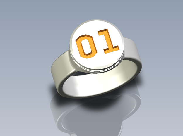 "General Lee ""01"" Driver Ring - Size 22.2mm ID in Polished Nickel Steel"