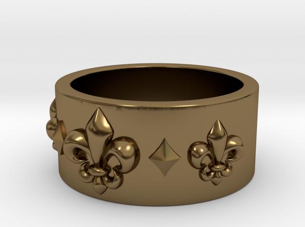 Plain Fleur Ring in Polished Bronze