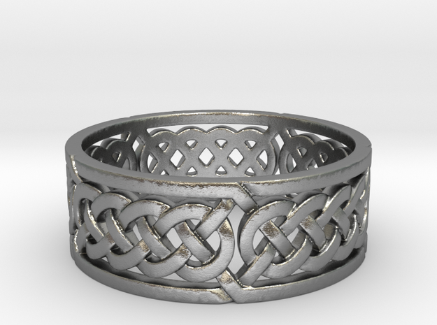 Celtic Quad Knot Ring in Natural Silver