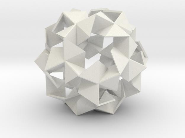 Pinwheel Lattice - 11.2 cm in White Strong & Flexible