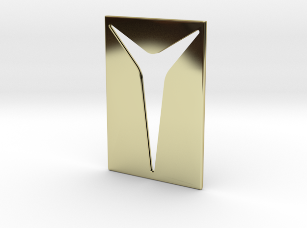 Youniversal Cardholder, Accessoir in 18k Gold Plated Brass