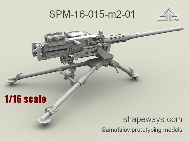 1/16 SPM-16-015-M2-01 Browning M2 cal.50 in Smoothest Fine Detail Plastic